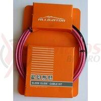 Set Cablu Frana - cabluri PTFE, invelis SP multistrat, accesorii - universal - rosu - Alligator BPTRD Sleek Glide