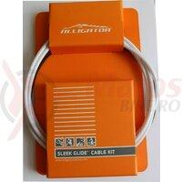 Set Cablu Schimbator - cabluri PTFE, invelis SP multistrat, accesorii - MTB - alb - Alligator SPTWH Sleek Glide