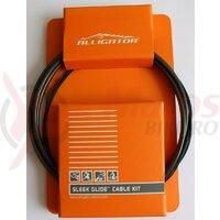 Set Cablu Schimbator - cabluri PTFE, invelis SP multistrat, accesorii - MTB - fumuriu - Alligator SPTSB Sleek Glide