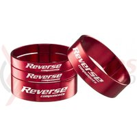 Set distantiere Reverse 1.1/8 aluminiu rosii