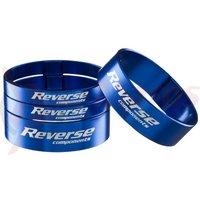 Set distantiere Reverse Ultra-Light 1.1/8 aluminiu albastre