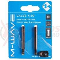 Set extensie valve M-Wave Aluminiu 50 mm