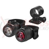 Set lumini Kellys IO USB, negru