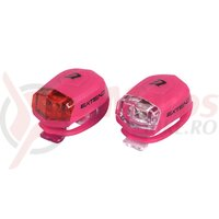 Set lumini cu baterii EXTEND Froggies roz