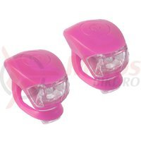 Set flash cu baterii M-Wave Cobra IV roz