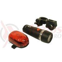 Set lumini far fata 5 led + stop spate/sclipitor 3 led