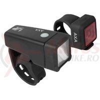 Set lumini - AXA-Nitelite T1, set far fata led + stop spate/sclipitor