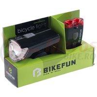 Set lumini Bikefun Ray set 1+2 LED USB