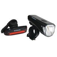 Set lumini Bikefun Stream USB set F+S negru