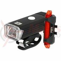 Set Lumini cu Acumulator P2R NITION 10 200 + 8 Lumeni USB