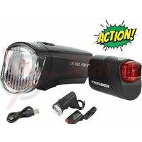 Set Lumini cu Acumulator TRELOCK LS350 I-GO Sport + LS710