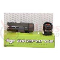 Set lumini fata spate Bike Force Blinder Knob 3/2 functii USB