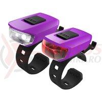Set lumini Kellys Vega USB, purple