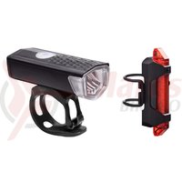 Set lumini RFR Power Lighting Set USB negru