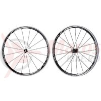 Set roti Shimano Dura Ace WH-9000-C35-CL janta clincher carbon laminate QR spate 163 mm