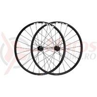 Set roti Shimano WH-MT500-27.5, fata+spate, jante 27.5 inch, 24H, pentru 11 viteze, QR spate 173mm, OLD:100 135MM, pt frana disc, negre