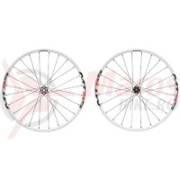 Set roti Shimano WH-MT55 29 OLD 100/135 mm E-Thru 15 mm/spate 168 mm alb
