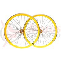 Set roti single speed/fixie 700x32H-40 mm SXT galben