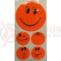 Set stickere autocolante Smiley orange 1x5 cm, 4x2.5 cm