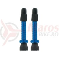 Set valve presta tubeless Var Tools din aluminiu 35 mm albastru 2 buc
