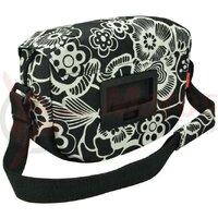 Geanta de umar/ghidon KLICKfix Fun Bag fleur/black, 25x19x8cm, ohne Lenkerad.