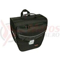 singl.pannier bag Haberland Touring 6000 black, 33x33x16cm, 16l