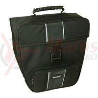 Single bag Haberland black, 31x32x16cm, 16ltr, gro