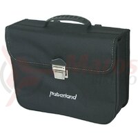 Single bag Haberland Classic black 34x27x11 cm 10 Liter, small