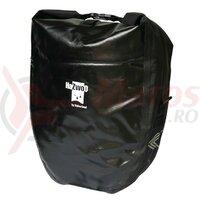 Single bag-Pair Haberland waterproof black, 37x43x16cm, 50 ltr
