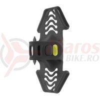 Suport telefon Bone Bike Tie Pro 2 black, prindere pe pipa, 65x133x40mm