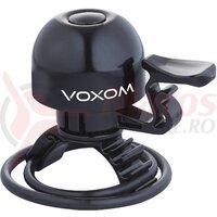 Sonerie bicicleta Voxom KL15 22,2-31,8mm, O-Ring, black