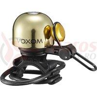 Sonerie bicicleta Voxom KL20, auriu, 22.2-31.8mm