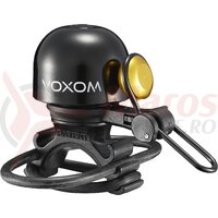 Sonerie bicicleta Voxom KL20, negru, 22.2-31.8mm