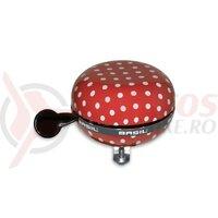Sonerie Ding-Dong Basil Polka Dot red/white dots, 80mm