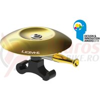Sonerie Lezyne Classic shallow brass bell, black mount