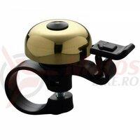 Sonerie Ostand CD-600C, alama/plastic, negru/auriu, clema ghidon 22,2mm
