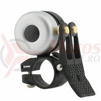 Sonerie ROCKBROS double bell 2 in 1, pentru MTB, BXM 22.2mm, argintiu