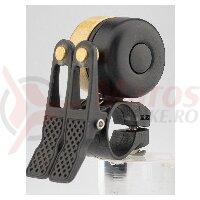 Sonerie ROCKBROS double bell 2 in 1, pentru MTB, BXM 22.2mm, negru