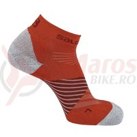 Sosete alergare Salomon Speed Pro DX+SX biking red/fiery red unisex