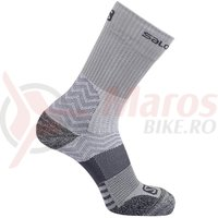 Sosete drumetie Salomon Outpath Mid DX+SX light grey/dark grey unisex