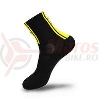 Sosete FLR Elite 14 cm negru/galben