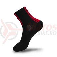 Sosete FLR Elite 14 cm negru/rosu