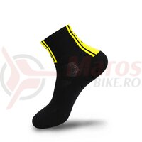 Sosete FLR Elite 9 cm negru/galben