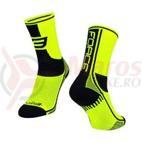 Sosete Force Long Plus fluo/negru