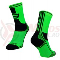 Sosete Force Long Plus verde/negru