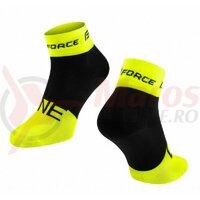 Sosete Force One, fluo/negru