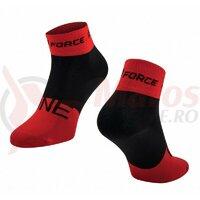 Sosete Force One, rosu/negru