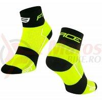 Sosete Force Sport 3, fluo/negru