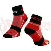 Sosete Force Sport 3, rosu/negru