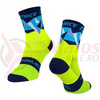 Sosete Force Triangle fluo/albastre